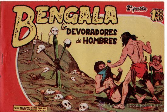 TEBEOS. COMIC. MAGA. BENGALA. LOS DEVORADORES DE HOMBRES. II - 15 (Tebeos y Comics - Maga - Bengala)