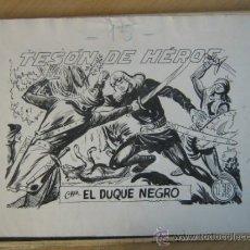 Tebeos: MAGA EL DUQUE NEGRO Y SUS SERIES, CORSARIO SIN ROSTRO Y AGUILUCHO. Lote 35281456