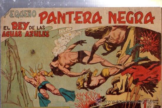 TEBEO PEQUEÑO PANTERA NEGRA, Nº 148, EL REY DE LAS AGUAS AZULES, MAGA, VALENCIA (Tebeos y Comics - Maga - Pantera Negra)
