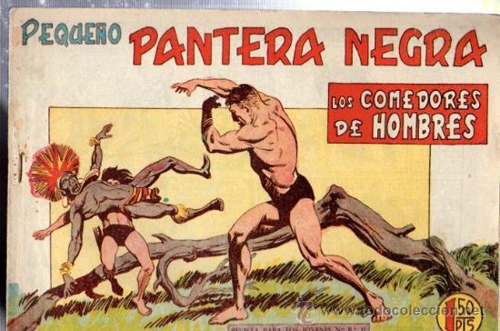 TEBEO PEQUEÑO PANTERA NEGRA, Nº 160, LOS COMEDORES DE HOMBRES, MAGA, VALENCIA (Tebeos y Comics - Maga - Pantera Negra)
