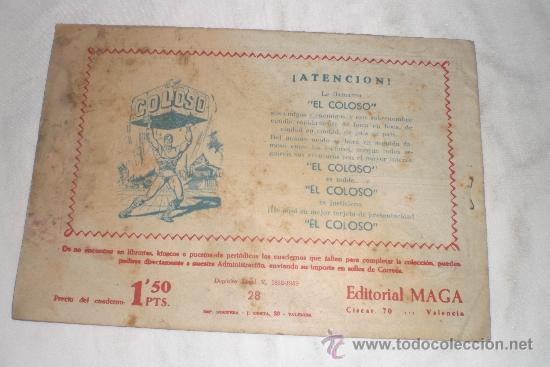 Tebeos: EL AGUILUCHO Nº 28 - Foto 2 - 33584476