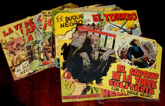 EL DUQUE NEGRO, ORIGINAL, LOTE DE 8 NUMEROS, QUE SON LOS SIGUIENTES: 2, 3, 19, 26, 31, 35, 36 Y 37 M (Tebeos y Comics - Maga - Otros)