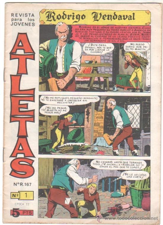 ATLETAS - 2ª ÉPOCA - RODRIGO VENDAVAL ORIGINAL 1966 MAGA- COMPLETA 6 NºS - LEOPOLDO ORTIZ, BOLUDA, (Tebeos y Comics - Maga - Otros)