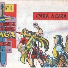 Tebeos: CORAZA DE CASTILLA ORIGINAL Nº 5 EDI. MAGA 1964 EXCELENTE ESTADO. Lote 34942539