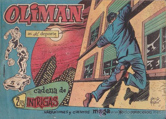 COMIC OLIMAN Nº 41 CON LAMINA POSTERIOR DEL EQUIPO DE FUTBOL REAL JAEN (Tebeos y Comics - Maga - Oliman)