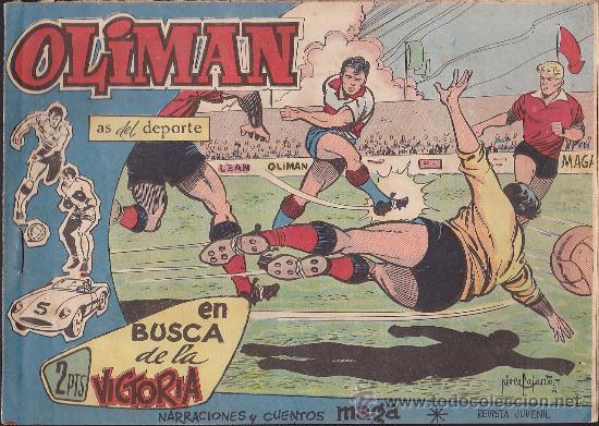 COMIC OLIMAN Nº 36 CON LAMINA POSTERIOR DEL EQUIPO DE FUTBOL HERCULES C.F. (Tebeos y Comics - Maga - Oliman)