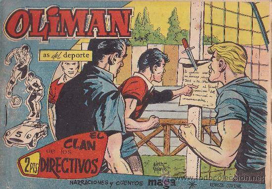 COMIC OLIMAN Nº 34 CON LAMINA POSTERIOR DEL EQUIPO DE FUTBOL C.A. OSASUNA (Tebeos y Comics - Maga - Oliman)