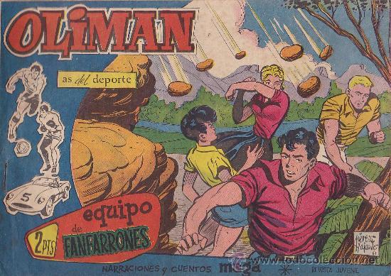COMIC OLIMAN Nº 32 CON LAMINA POSTERIOR DEL EQUIPO DE FUTBOL REAL SANTANDER (Tebeos y Comics - Maga - Oliman)