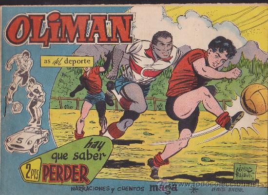 COMIC OLIMAN Nº 31 CON LAMINA POSTERIOR DEL EQUIPO DE FUTBOL REAL VALLADOLID (Tebeos y Comics - Maga - Oliman)