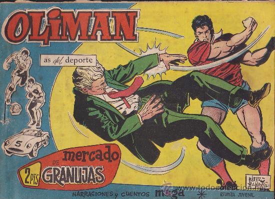 COMIC OLIMAN Nº 29 CON LAMINA POSTERIOR DEL EQUIPO DE FUTBOL GRANADA C.F. (Tebeos y Comics - Maga - Oliman)