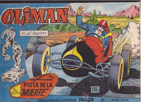 COMIC OLIMAN Nº 21 CON LAMINA POSTERIOR DEL EQUIPO DE FUTBOL AT.MADRID (Tebeos y Comics - Maga - Oliman)