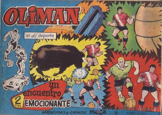 COMIC OLIMAN Nº 19 CON LAMINA POSTERIOR DEL EQUIPO DE FUTBOL AT.BILBAO (Tebeos y Comics - Maga - Oliman)