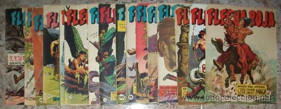FLECHA ROJA (MAGA) (LOTE DE 36 NUMEROS ENTRE EL 2 Y 43) (Tebeos y Comics - Maga - Flecha Roja)