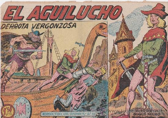 LOTE DE 9NºS DE EL AGUILUCHO (Tebeos y Comics - Maga - Otros)