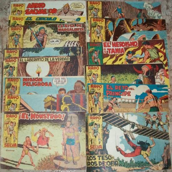EL RAYO DE LA SELVA (MAGA) (LOTE DE 36 NUMEROS DEL 2 AL 38) (Tebeos y Comics - Maga - Rayo de la Selva)