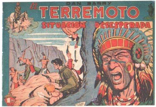 DAN BARRY EL TERREMOTO ORIGINAL EDI. MAGA 1954 - JOSÉ ORTIZ - 17 TEBEOS PLANCHA (Tebeos y Comics - Maga - Dan Barry)
