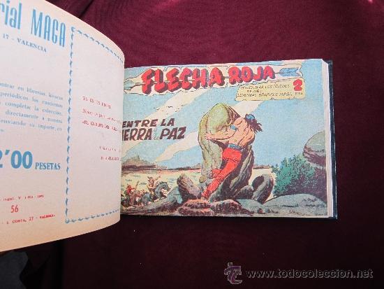 Tebeos: Tomo de lujo de Flecha Roja encuadernando del 41 al 79 (último). Editorial Maga original 1962 TEBENI - Foto 4 - 37248770