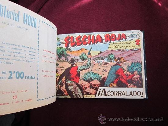 Tebeos: Tomo de lujo de Flecha Roja encuadernando del 41 al 79 (último). Editorial Maga original 1962 TEBENI - Foto 5 - 37248770