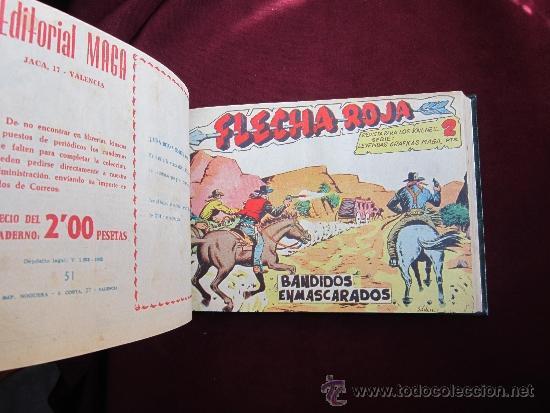 Tebeos: Tomo de lujo de Flecha Roja encuadernando del 41 al 79 (último). Editorial Maga original 1962 TEBENI - Foto 6 - 37248770
