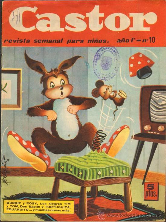 TEBEOS-COMICS GOYO - CASTOR - ED. MAGA 1964 - Nº 10 - RARISIMO - PEREZ FAJARDO *UU99 (Tebeos y Comics - Maga - Otros)