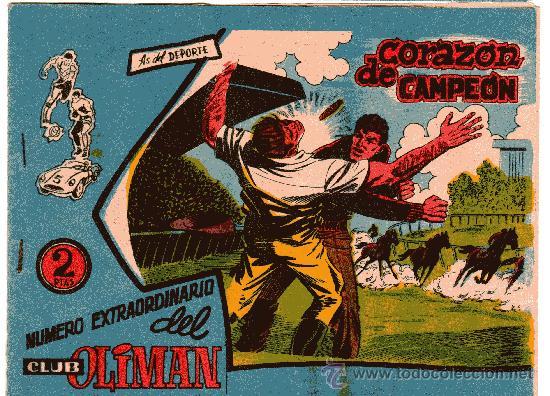 OLIMAN EXTRA Nº 13 CORAZÓN DE CAMPEÓN CONTRAPORTADA REAL MADRID C.F. (Tebeos y Comics - Maga - Oliman)