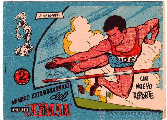 OLIMAN EXTRA Nº 16 UN NUEVO DEPORTE CONTRAPORTADA REAL GIJON (Tebeos y Comics - Maga - Oliman)