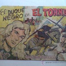 Tebeos: EL DUQUE NEGRO.Nº 19.ORIGINAL. Lote 37969688