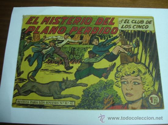 CON EL CLUB DE LOS CINCO Nº 36 / EL MISTERIO DEL PLANO PERDIDO / MAGA ORIGINAL (Tebeos y Comics - Maga - Otros)