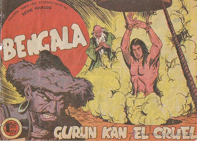 BENGALA Nº 42, GURUN KAN EL CRUEL (ORIGINAL, NO REPRODUCCION) (Tebeos y Comics - Maga - Bengala)