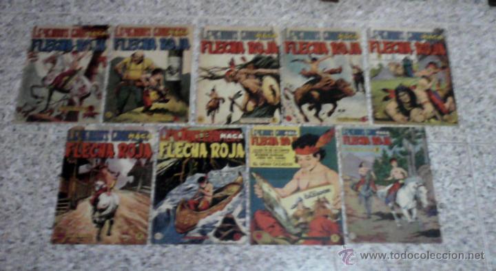 FLECHA ROJA LEYENDAS GRAFICAS - LOTE DE 9 NUMEROS 5PTS. (Tebeos y Comics - Maga - Flecha Roja)