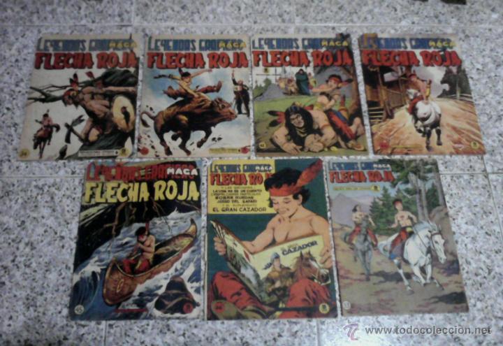 FLECHA ROJA LEYENDAS GRAFICAS - LOTE DE 7 NUMEROS 5PTS. (Tebeos y Comics - Maga - Flecha Roja)