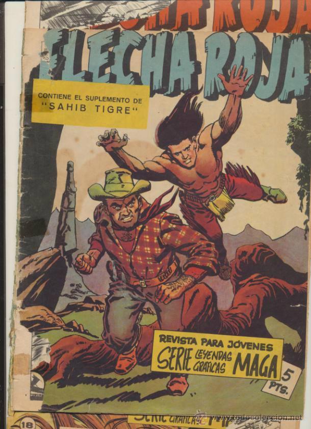 FLECHA ROJA REVISTA. LOTE DE 3 EJEMPLARES: 5,10 Y 18. (Tebeos y Comics - Maga - Flecha Roja)