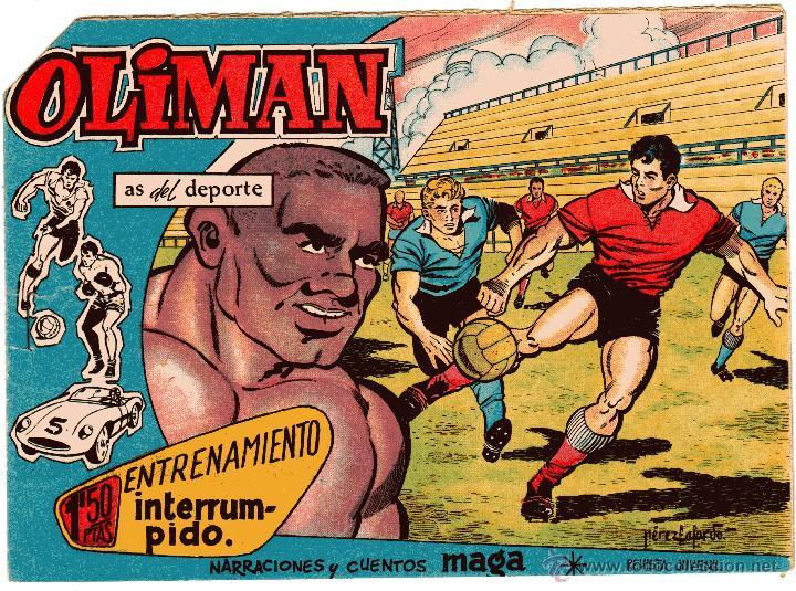 OLIMAN AS DEL DEPORTE Nº 17 CONTRAPORTADA REAL MADRID CF (Tebeos y Comics - Maga - Oliman)