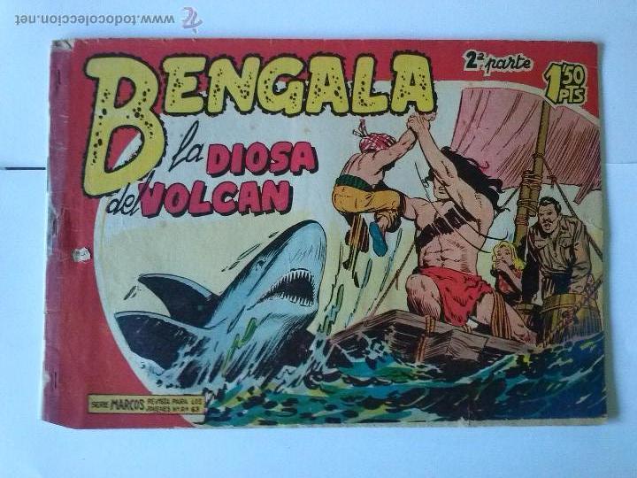 BENGALA -LA DIOSA DEL VOLCAN Nº22- 2ª - EST.MA- (Tebeos y Comics - Maga - Bengala)