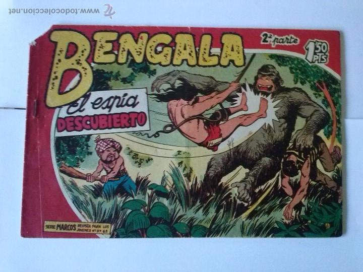 BENGALA -EL ESPIA DESCUBIERTO Nº 10 , 2ªBUENO (Tebeos y Comics - Maga - Bengala)