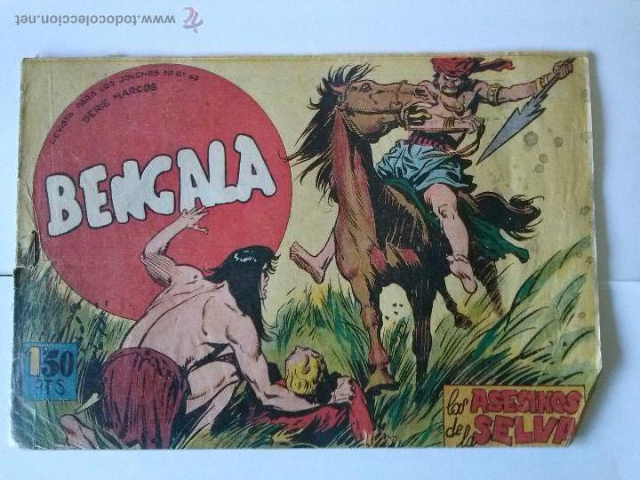 -BENGALA- LOS ASESINOS DE LA SELVA Nº 21 ,-1ª (Tebeos y Comics - Maga - Bengala)