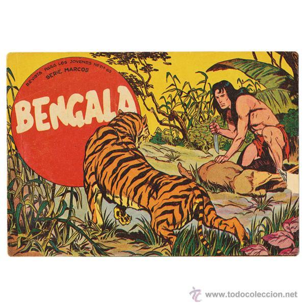 BENGALA. MAGA, 1959. COMPLETA (54 EJEMPLARES) CONSERVACIÓN MEDIA BUENA (Tebeos y Comics - Maga - Bengala)