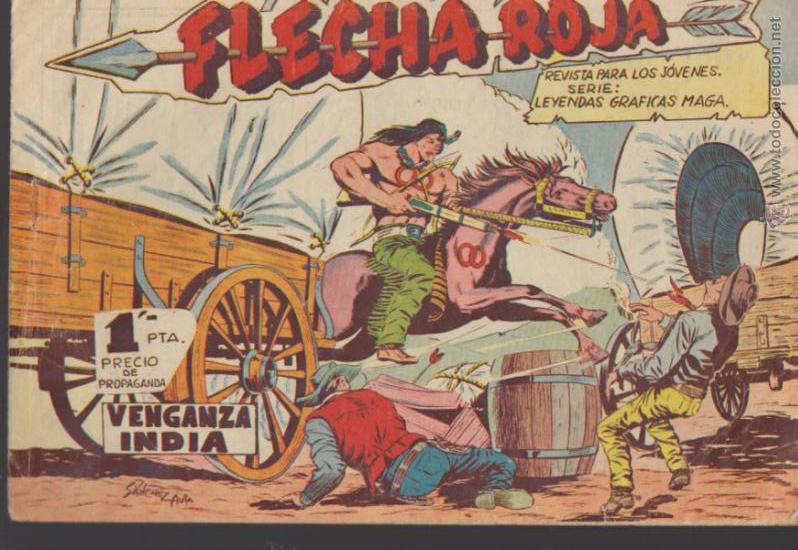 FLECHA ROJA. MAGA 1962. COLECCIÓN COMPLETA 79 EJEMPLARES. (Tebeos y Comics - Maga - Flecha Roja)
