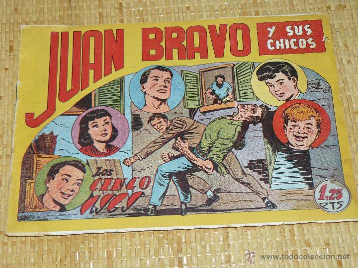 TEBEOS-COMICS CANDY - JUAN BRAVO - Nº 12 - MAGA - 1953 - JOSE ORTIZ - DIFICIL *BB99 (Tebeos y Comics - Maga - Otros)