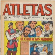 Tebeos: ATLETAS Nº 4. MAGA 1965.. Lote 43359281