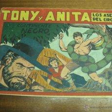 Livros de Banda Desenhada: TONY Y ANITA Nº 18: EN EL CONTINENTE NEGRO / MAGA ORIGINAL. Lote 43435179