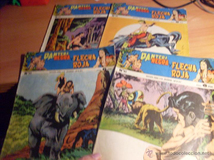 PANTERA NEGRA Y FLECHA ROJO LOTE 4 EJEMPLARES ORIGINALES Nº 82, 83, 85 Y 87 (ED. MAGA) (Tebeos y Comics - Maga - Pantera Negra)