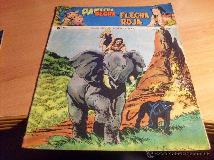 Tebeos: PANTERA NEGRA Y FLECHA ROJO LOTE 4 EJEMPLARES ORIGINALES Nº 82, 83, 85 Y 87 (ED. MAGA) - Foto 2 - 43556481