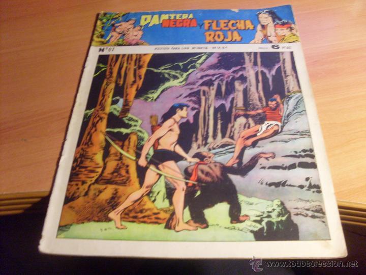 Tebeos: PANTERA NEGRA Y FLECHA ROJO LOTE 4 EJEMPLARES ORIGINALES Nº 82, 83, 85 Y 87 (ED. MAGA) - Foto 8 - 43556481