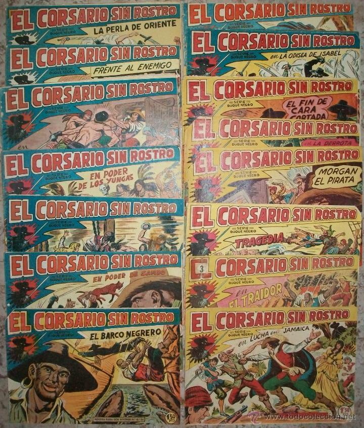 EL CORSARIO SIN ROSTRO (MAGA) 42 EJ. (COMPLETA) (Tebeos y Comics - Maga - Otros)