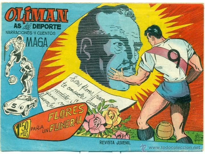 OLIMAN Nº 9, CON JESUS GARAY EN LA CONTRAPORTADA (Tebeos y Comics - Maga - Oliman)