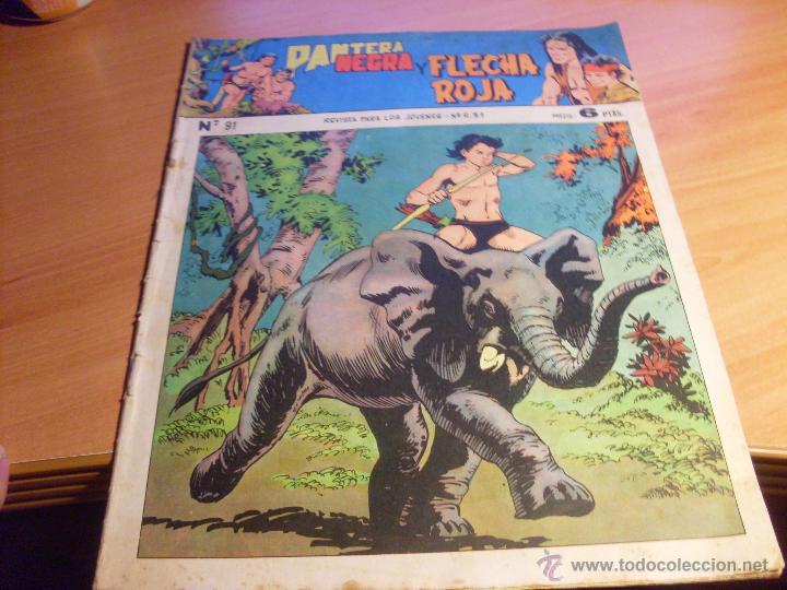 PANTERA NEGRA Y FLECHA ROJA Nº 91 (ORIGINAL ED. MAGA) (CLA8) (Tebeos y Comics - Maga - Pantera Negra)