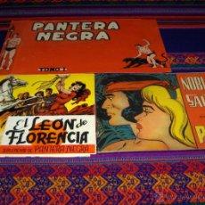 Tebeos: CUBIERTAS TAPAS ORIGINALES EL LEÓN DE FLORENCIA Y NOBLEZA SALVAJE. BUEN ESTADO. Lote 45751123