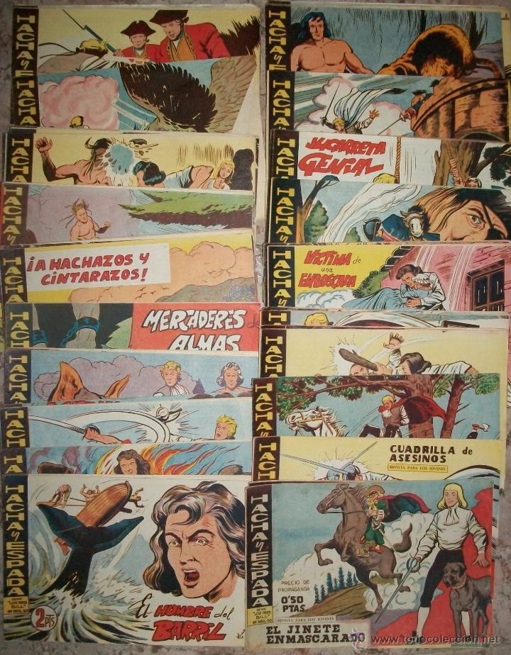 HACHA Y ESPADA (MAGA) (COMPLETA 58 NUMEROS) (Tebeos y Comics - Maga - Otros)