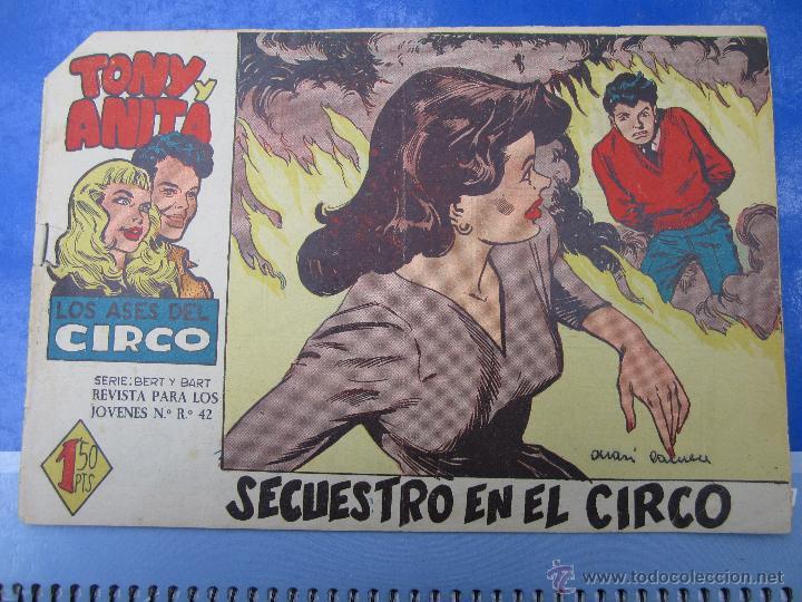 TONY Y ANITA , LOS ASES DEL CIRCO , N .7 ORIGINAL , MAGA 1960 (Tebeos y Comics - Maga - Tony y Anita)